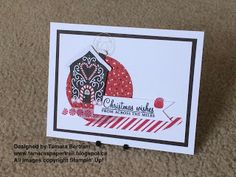 Handmade Christmas Cards; Candy Cane Lane DSP; Candy Cane Lane Washi Tape; 2016 Holiday Catalogue; Stampin' Up!; Tamara's Paper Trail