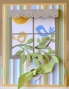 Window Birdies by Purplevale - Cards and Paper Crafts at Splitcoaststampers
