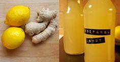 Boosta ditt immunförsvar! Gör en ingefärsshot med citron Healthy Drinks, Healthy Eating, Massage Tips, Fresh And Clean, Looks Yummy, Breakfast Time, Herbal Remedies, New Recipes, Herbalism