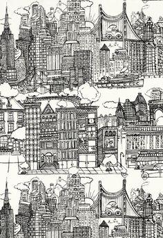 2643410 New York New York Black & White by F Schumacher