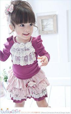 kids fashion--pretty girl