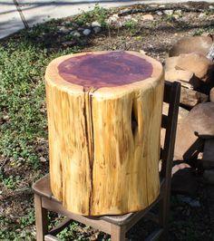 Tree Stump Side End Table, Stool, 15
