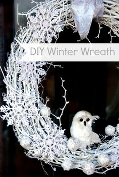 Winter Wreaths For Front Door | This was a super-quick project (you know what a fan I am of quickie ...