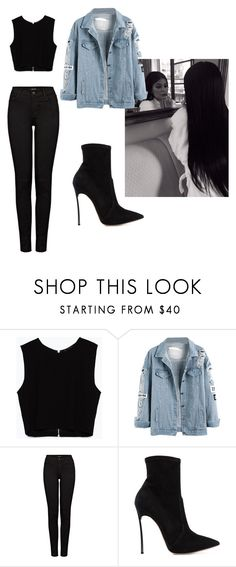 """black day"" by escarletmix14 on Polyvore featuring moda, Zara, J Brand, Casadei, women's clothing, women's fashion, women, female, woman y misses"