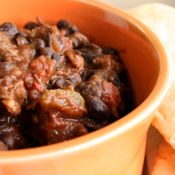 BEEF AND BLACK BEAN CHILI:  Recipe from Cooking.com. Recipe Courtesy of Astrid's. Servings (4)
