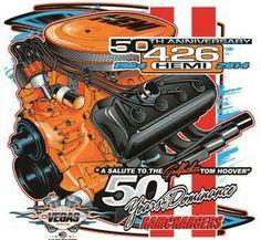 Hemi Hemi Engine, Car Engine, Engine Working, Dodge Muscle Cars, Garage Accessories, Performance Engines, Automotive Art, American Muscle Cars, Hot Cars