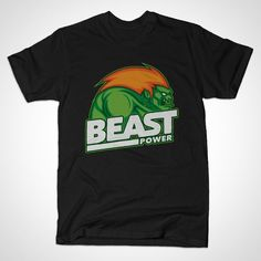BEAST POWER T-Shirt - Street Fighter T-Shirt is $14 today at TeePublic!