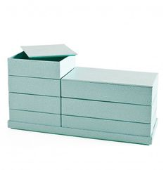 MSHO Shagreen Boxes: Great for organizing or as gift boxes. >> Such a great color and size!