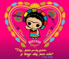 So cute 💘 Frida Quotes, Frida Art, Painted Clay Pots, Mexican Artists, Mexican Party, Love Images, Rock Art, Cute Pictures, Doodles