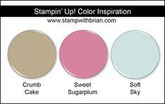 Stampin' Up! Color Inspiration: Crumb Cake, Sweet Sugarplum, Soft Sky