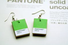 Items similar to Pantone Earrings: Custom Color(s) on Etsy Pantone Color, Pantone Number, Pantone Matching System, Pantone Universe, Simple Poster, Color Scale, Best Phone, World Of Color, Ad Design
