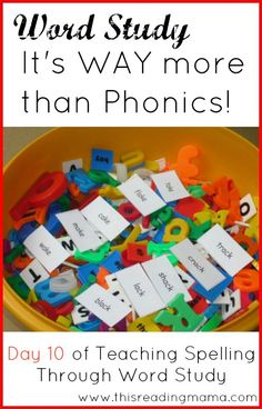 Word Study: It's WAY More Than Phonics ~ Using Word Sorts to Teach Vocabulary | This Reading Mama