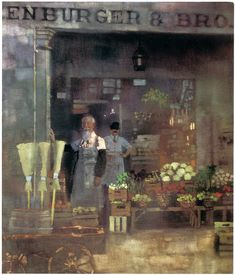 "Bernie Fuchs, oil on canvas 24""x20"""