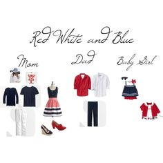 Red White and Blue Family Photo Clothing Atwjk.com