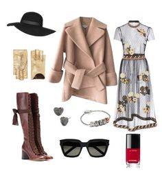 rustic romance by ddwallace on Polyvore featuring polyvore fashion style RED Valentino Carven Chloé Coach Betsey Johnson Gucci Yves Saint Laurent Topshop Chanel rustic clothing