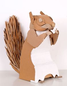 And the cardboard squirrel to go in them!
