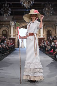 We Love Flamenco 2020 - Sevilla Spanish Fashion, Vintage Designs, Grey And White, Love Fashion, Stripes, Shirt Dress, Couture, Lace, Pretty
