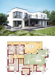 Marvelous Mehrfamilienhaus Evolution 282 V7 Grundriss Flachdach   Bien Zenker   Haus  Mit Zwei Getrennten Wohnungen