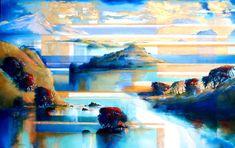 Harold Coop, Coastal Series VII, acrylic with metallic pigments
