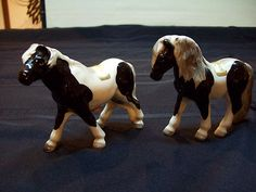 Vintage Victoria Ceramics Japan Black & White Horse Salt & Pepper Shakers | eBay