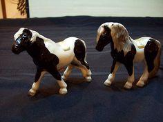 Vintage Victoria Ceramics Japan Black & White Horse Salt & Pepper Shakers | eBay