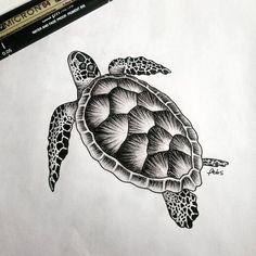 Sea turtle tattoo, Turtle tattoo designs, Turtle t Tattoo Sketches, Tattoo Drawings, Drawing Sketches, Art Drawings, Drawing Drawing, Ocean Tattoos, Body Art Tattoos, Animal Sketches, Animal Drawings