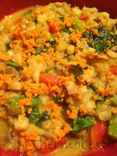 Thermobexta's Creamy Curried Caulisotto Veggie Recipes, Low Carb Recipes, Real Food Recipes, Vegetarian Recipes, Cooking Recipes, Healthy Recipes, Savoury Recipes, Paleo Side Dishes, Easy Food To Make