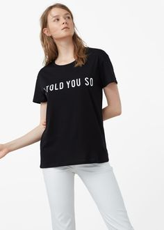 Cotton modal-blend t-shirt - T-shirts for Woman | MANGO USA