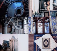 """pvffskein: """" House Common Room aesthetics - Ravenclaw Tower Hufflepuff 
