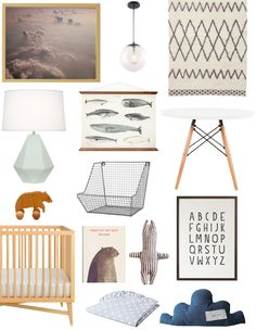 A Nursery Starts with Art: Cloud Print Inspired Nursery   Apartment Therapy