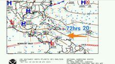 Se espera que la Onda Tropical No.20 se ubique al Noreste de Venezuela dentro de 72 horas aproximadamente