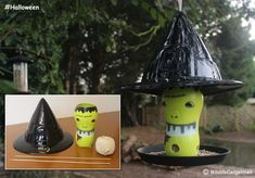 Halloween Witches Hat Bird Feeder  Suitable For: Age (8+) Time Needed: 30Minutes              Suitable For: Age (8+)  Time Needed: