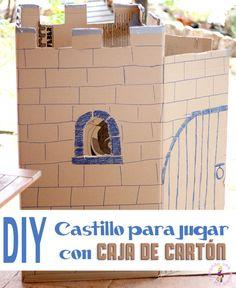 Hacer un castillo para jugar con una caja de cartón