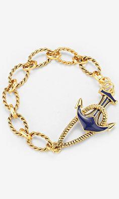 Nautical Bracelet in Gold//