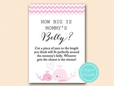 How big is mommy's belly guess the size baby by MagicalPrintable