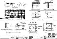 multiple units house floor plan with elevations, perspective, structural, electrical, plumbing