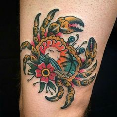 I love this crab tattoo!!!