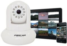 Amazon.com: Foscam FI8910W Pan & Tilt IP/Network Camera with Two-Way Audio and Night Vision (Black): Camera & Photo