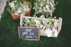 Our gift to you! Great idea for putting out favors