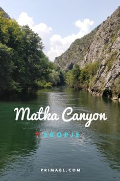 Matka Canyon is situated on the other side of Mount Vodno to the Millennium Cross and words fail to describe its beauty. Read about it in mt Top 6 Things to do in Skopje.