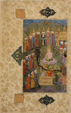 Iran, unknown workshop (Iranian), Western Afghanistan, The angel of the Lord on the Day of Judgment, 16th century, ink, opaque watercolor, gold, and silver on pape