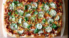 Barbecue Chicken Pizza with Squash & Zucchini