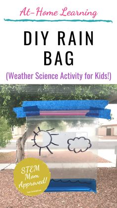 Easy Weather Science Experiments for Preschoolers and Toddlers DIY Rain bag! This is a super simple weather STEM activity your Science Experiments For Preschoolers, Stem For Kids, Cool Science Experiments, Toddler Learning Activities, Preschool Learning Activities, Science For Kids, Science Experiments For Toddlers, Weather Experiments, Science Daily