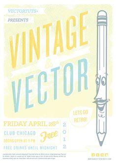 Vintage Vector Design Workflow: Creating a Retro Flyer Design (+ Other Tutorials!)