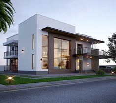 home by egmdesigns House Outside Design, Simple House Design, House Front Design, Minimalist House Design, Minimalist Home, Modern House Design, Residential Architecture, Modern Architecture, Morden House
