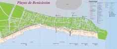 Benicàssim tourist map