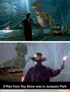 If Rex was on Jurassic Park