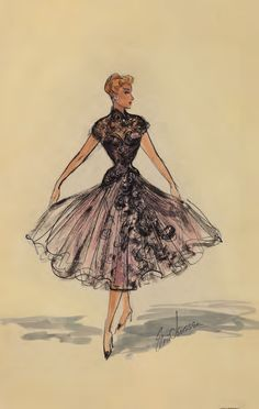 Costume design for by Elois Jenssen for Lucille Ball in I Love Lucy