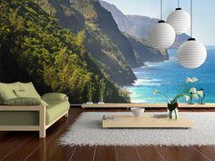 Fotomural Na Pali Coast, Kauai, Hawaii 61690 Kauai Hawaii, Hawaii Homes, My House, Coast, Home Decor, Design, Products, Carpet, Youth Rooms