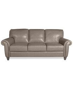 """Arianna Leather Sofa  Macy's about $1000.  Comes dark brown or taupe/grey   84"""".  Italian leather"""